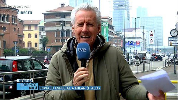 Így int nyugalomra egy köztévés tudósító Spanyolországban