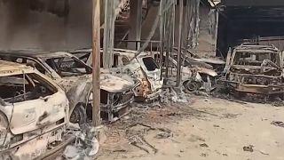 Cars burned as Muslim-Hindu violence leaves 20 dead in New Delhi