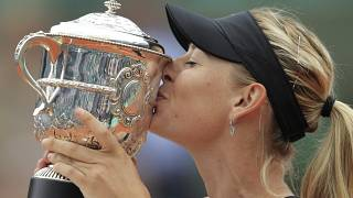 Mario Sharapova après on titre à Roland Garros le 9 juin 2012
