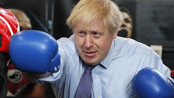 Boris Johnson at Jimmy Egan's Boxing Academy in Manchester