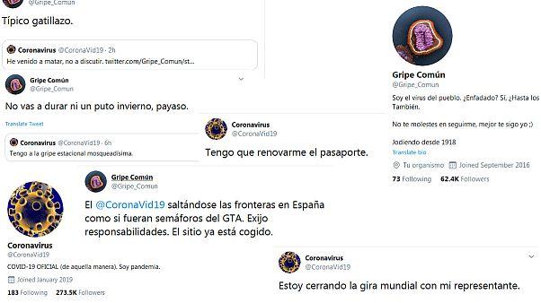 Capturas de pantalla de los tuits
