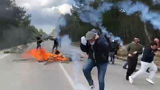 Nem adják fel a tüntetők Leszboszon, az új menekülttábor ellen tiltakoznak