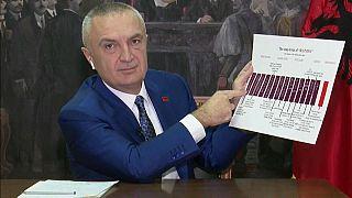 Albanian president Ilir Meta was interviewed on Euronews' Good Morning Europe
