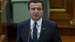 Le Premier ministre du Kosovo Albin Kurti