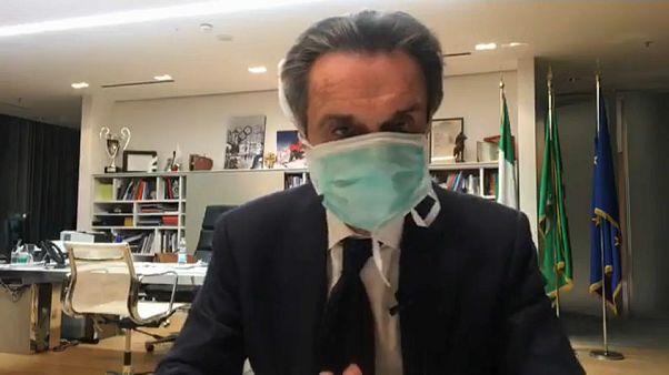 """Regionalpräsident mit Maske: """"Ich isoliere mich 14 Tage lang"""""""