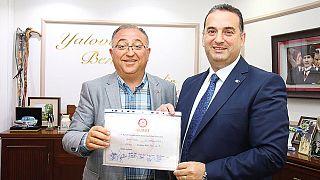 Yalova Belediye Başkanı Vefa Salman ve YArdımcısı Halit Güleç