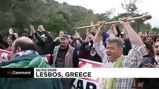 Nem tágítanak az új leszboszi menekülttábor ellen tiltakozók