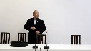 Marian Kotleba, Chairman of the far-right People's Party Our Slovakia