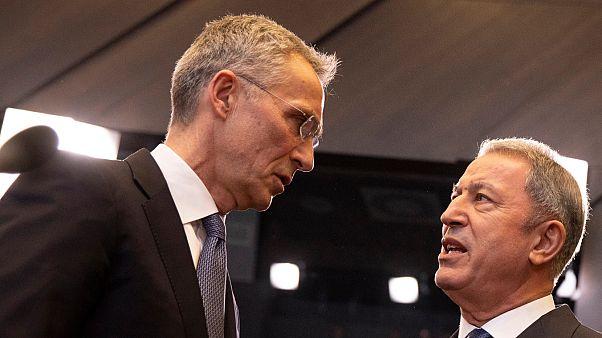 NATO Genel Sekreteri Jens Stoltenberg ve Savunma Bakanı Hulusi Akar