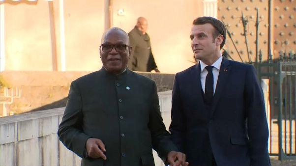 Les présidents malien et français à Pau au sommet G5 Sahel