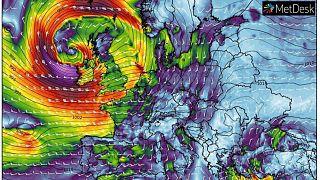 توقعات الرياح والضغط الجوي في 29 شباط/فبراير 2020