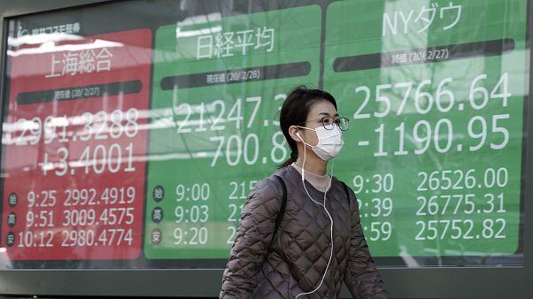 تراجع أسواق الأسهم الآسيوية بشكل كبير بسبب مخاوف تفشي الفيروس 28/02/2020