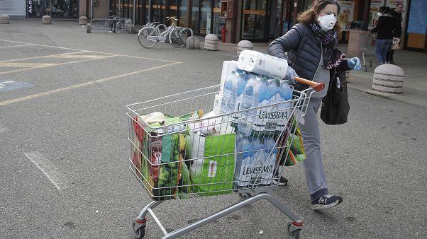 Supermarkt in Norditalien - Ende Februar