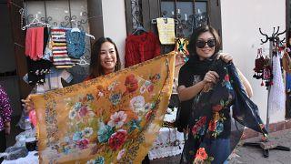 Kırşehir'i ziyaret eden Çinli turistler