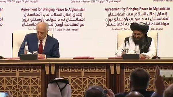 Aláírták az amerikai-tálib békemegállapodást Dohában