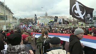 Russos nas ruas para homenagear Boris Nemtsov