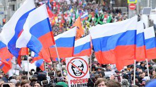 """Oposição quer 'Rússia sem Putin"""""""