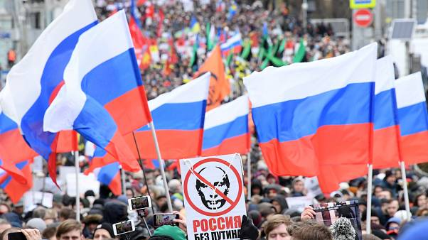 Opposition urges 'Russia without Putin' in rally to remember murdered politician Boris Nemtsov