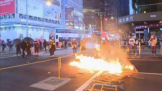 Беспорядки в Гонконге.