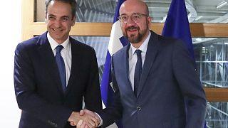 AB Konseyi Başkanı Michel ile Yunanistan Başbakanı Mitsotakis Yunanistan-Türkiye sınırını ziyaret edecek