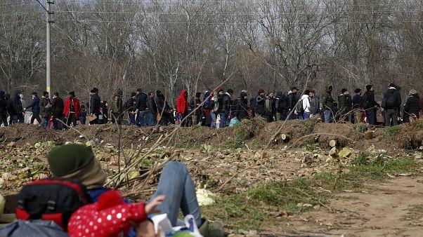 Türkiye - Yunanistan sınırında mülteciler