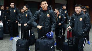 Los jugadores del Wuhan Zall FC bloqueados en España