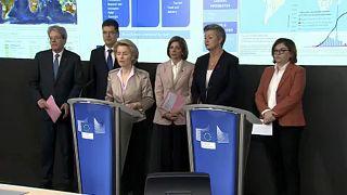 Ursula von der Leyen bei der Vorstellung der EU-Maßnahmen auf das Coronavirus