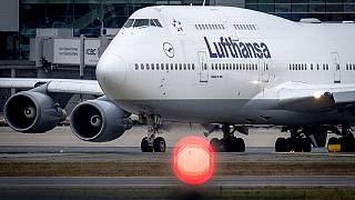 Flights at Frankfurt, home base of Lufthansa, were grounded after a drone was seen