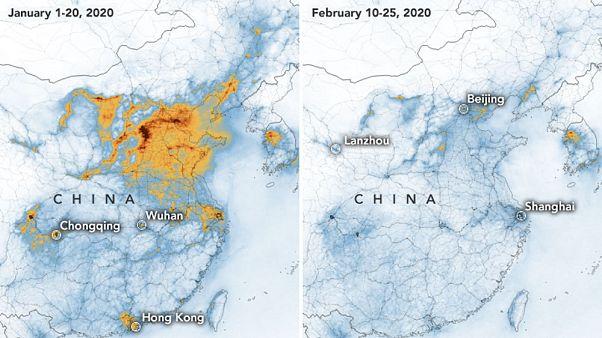 La NASA conferma: il coronavirus ha fatto crollare le emissioni di gas serra in Cina