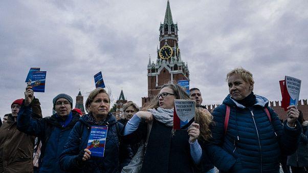 Митинг в поддержку Константина Котова в Москве.