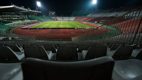 View of the empty Puskas Ferenc Stadium in Budapest, Hungary,  March 22, 2013