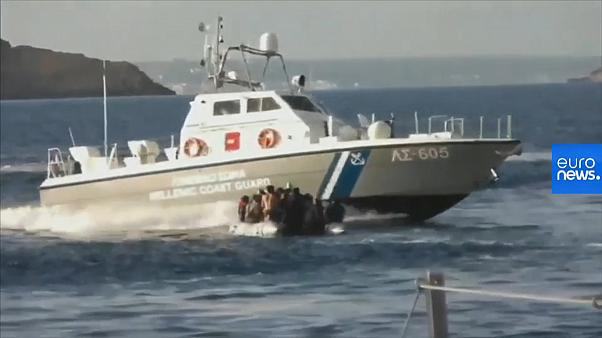 Watch: Migrant boat targeted in sea between Turkey and Greece