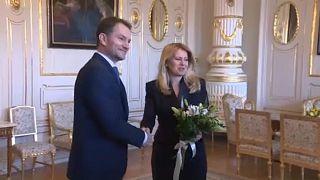 A szlovák államfő fogadta a választások győztesét
