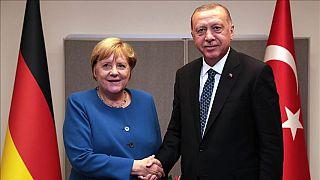 Angela Merkel ve Recep Tayyip Erdoğan
