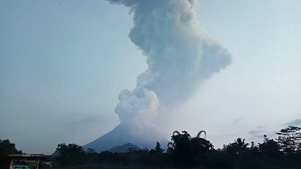 Indonesia's Mount Merapi volcano spews smoke, ash into sky