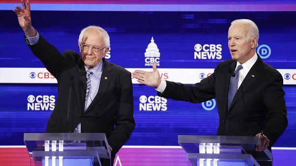 """14 ولاية تختار في """"الثلاثاء الكبير"""" مرشحها الديمقراطي بين بايدن وساندرز لمواجهة ترامب"""