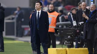 Inter Milan President Steven Zhang at the San Siro Stadium, in Milan, Italy, January 26, 2020