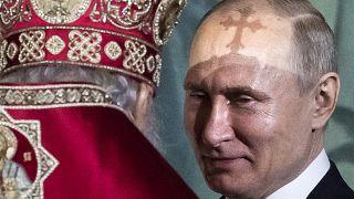 Putin a colloquio con il patriarca ortodosso Cirillo I nell'aprile dello scorso anno