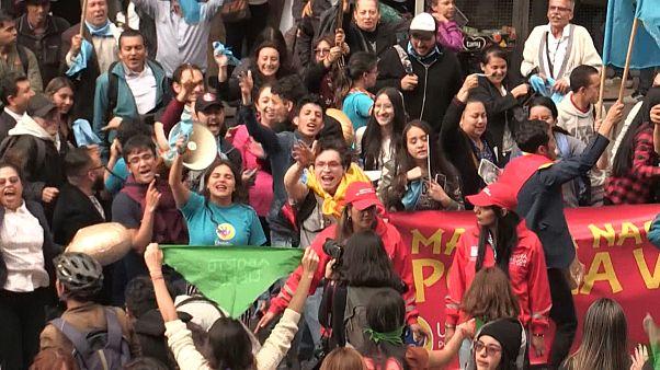 کلمبیا؛ تجمع مخالفان سقط جنین در بوگوتا