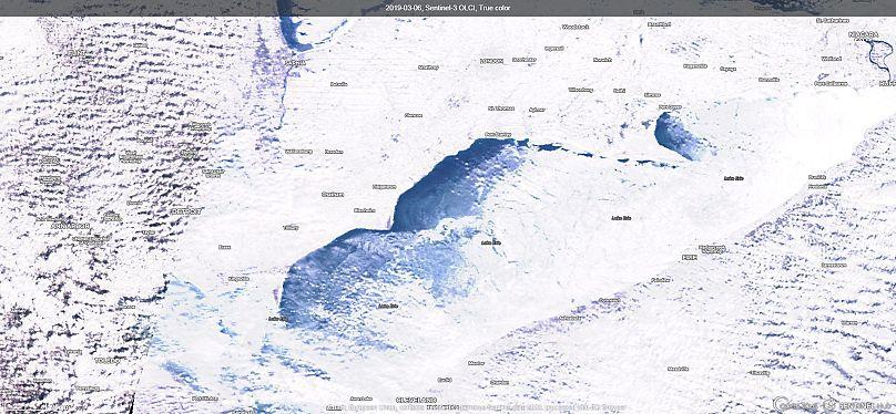 Unión Europea / Copernicus / Sentinel 3 / EO Browser