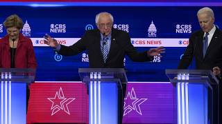 Democratic party presidential hopefuls hold televised debate
