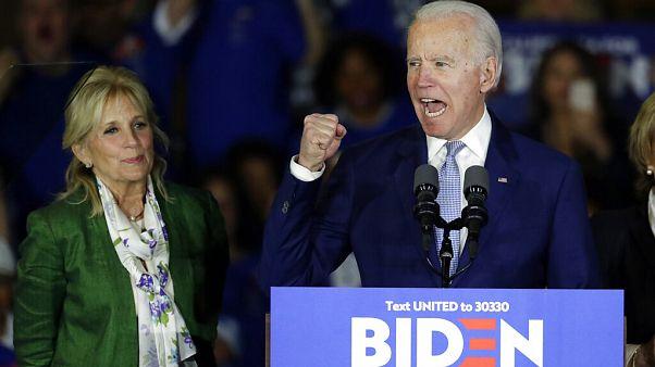Joe Biden's night started with an emphatic in Virginia