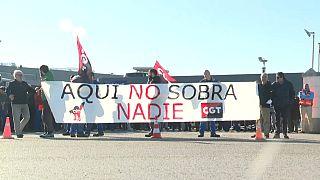 Paro de los trabajadores de la planta de Getafe, el 21 de febrero de 2020