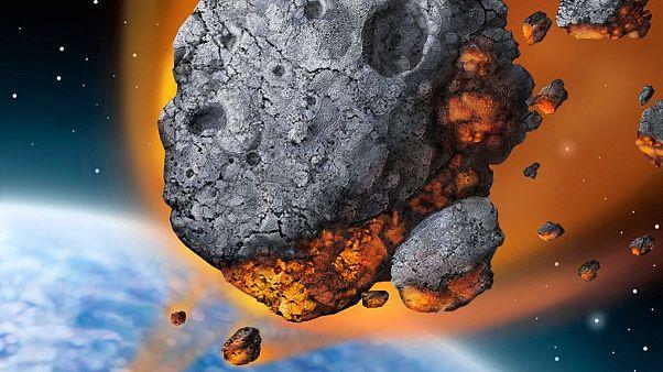 حرکت شهاب سنگ عظیم با سرعت ۳۰ هزار کیلومتر در ساعت به سمت کره زمین