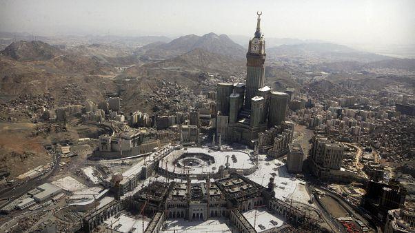 Mekke'de bulunan Kabe ve çevresindeki binalar