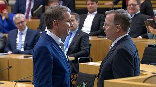 Bodo Ramelow und Björn Höcke im Thüringer Landtag