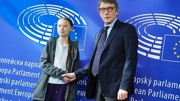 David SASSOLI, EP President meets with Greta THUNBERG, Swedish environmental activist