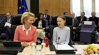 La présidente de la Commission européenne Ursula von der Leyen et Greta Thunberg