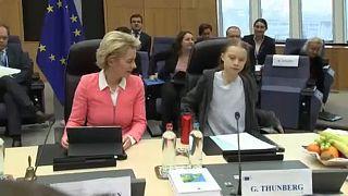 EU-Kommissionspräsidentin Ursula von der Leyen mit Greta Thunberg
