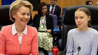 Ursula von der Leyen és Greta Thunberg